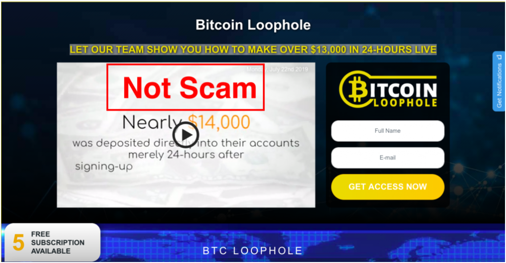 Bitcoin Loophole not scam